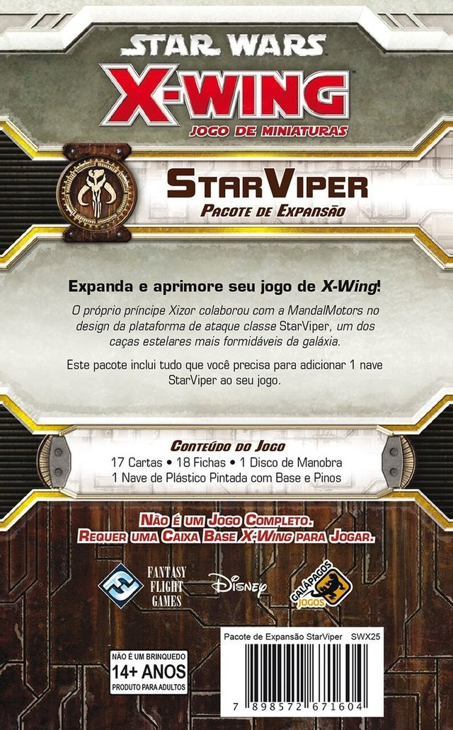 StarViper - Expansao, Star Wars X-Wing - comprar online