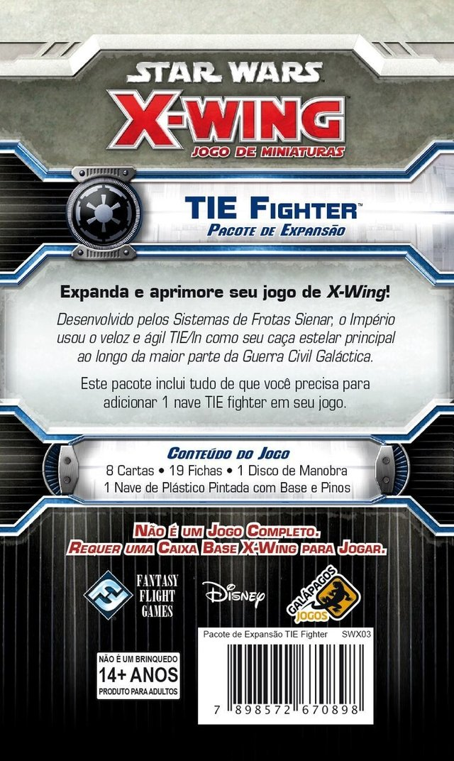 TIE Fighter - Expansao, Star Wars X-Wing - comprar online