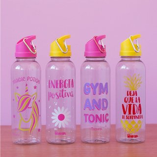 Pack x 2 botellas sport colorful diseños surtidos