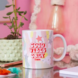 Taza Porcelana Good Vibes
