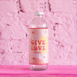 (Mitad de Precio!) Botellas Water Home Give Love x 3