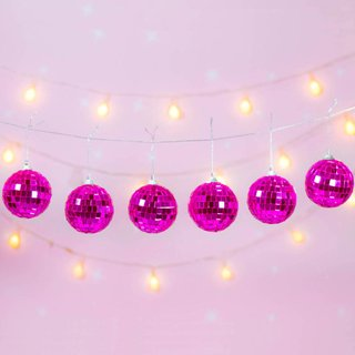 Guirnalda Disco Ball Pink