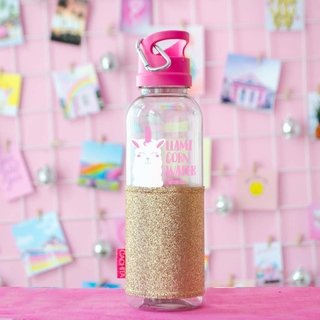 Botellas Glitter Llamicorn Water