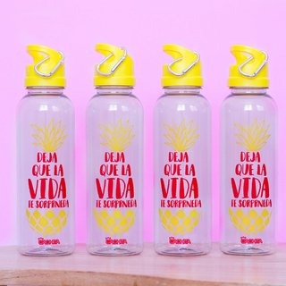 Botellas Cachita Sport Colorful Piña x 4 unidades