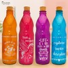 pack x 4 botellas de vidrio color 1 lt.