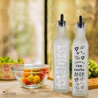 Pack x 4 botellas condimentos