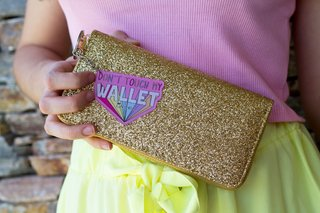 Billetera Gold Dont Touch