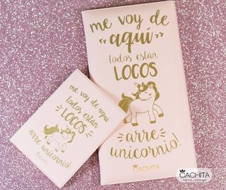 Set Travel Rosa Arre Unicornio