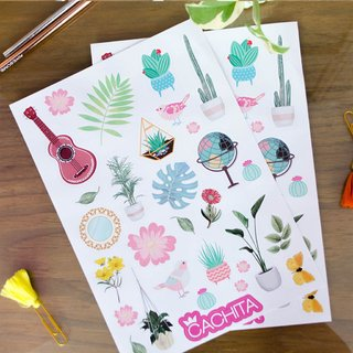 Stickers Boho Pack x 3 planchas