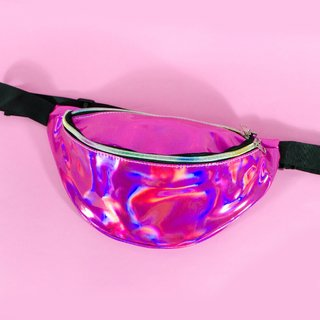 Pink Hologram Cachita Fanny Pack