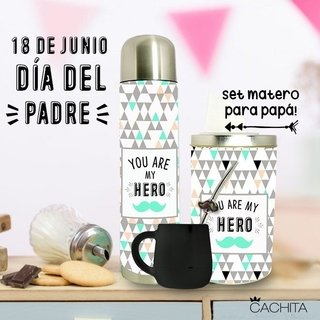 Set matero My Hero (Termo 1/2 lt. lata y mate)