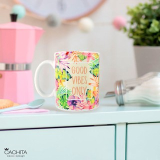 Taza Porcelana Good Vibes Only