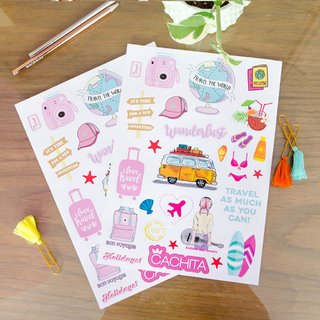 Stickers Travel pack x 3 planchas