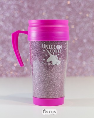 Jarro Térmico Glitter Unicorn Coffee