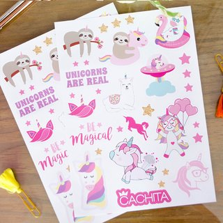 Stickers Magic Pack x 3 planchas