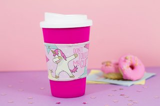 Vaso térmico con grip unicorn don´t touch