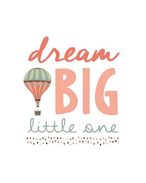 cuadro dream big litlle one