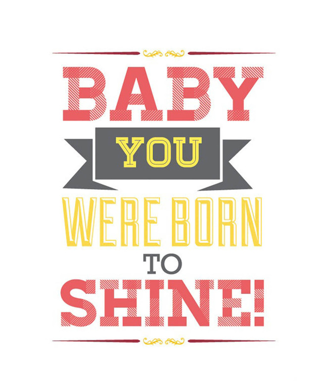 cuadro baby you we're born to shine