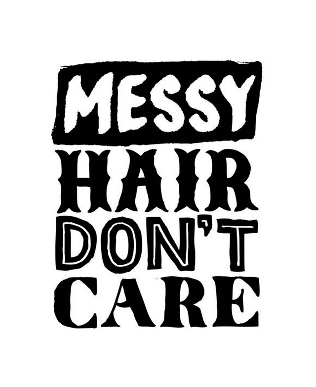 cuadro messy hair don't care - comprar online