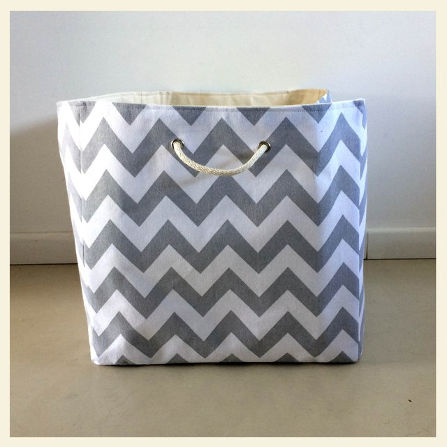 super basket chevron gris