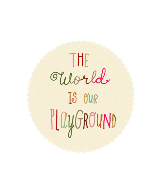 cuadro The world is our playground