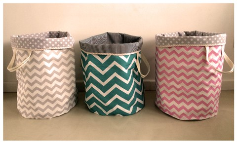 maxi baskets chevron