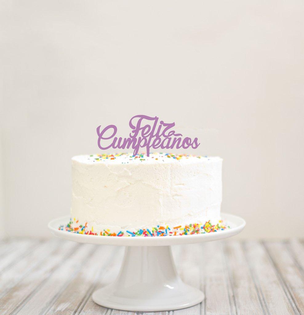 topper para torta feliz cumplea os letra cursiva. Black Bedroom Furniture Sets. Home Design Ideas