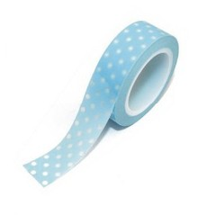 Washi Tape Mini Polka sobre Azul Claro