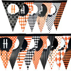 Banderines Triangulares Happy Halloween