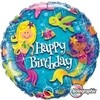 Globo Metalizado Holográfico Happy Birthday Mermaids. 46 cms. - comprar online