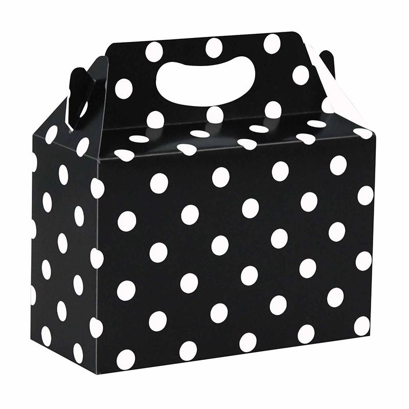 Caja de Cartón para Sorpresas Puntos Blancos sobre Negro
