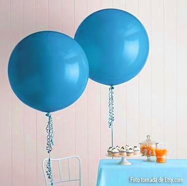Globos gigantes super redondos de 91 cms 2 unidades azul - Llenar globos con helio ...