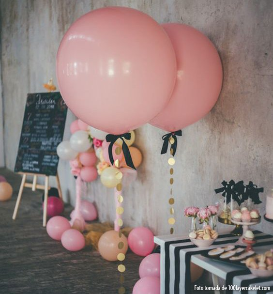 Globos gigantes super redondos de 91 cms 2 unidades rosado - Llenar globos con helio ...