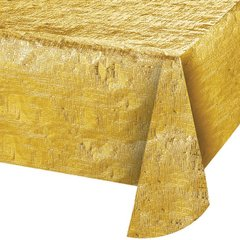 Mantel Rectangular Dorado Metalizado