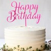Topper para torta - Happy Birthday Fucsia - comprar online