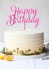 Topper para torta - Happy Birthday Fucsia en internet