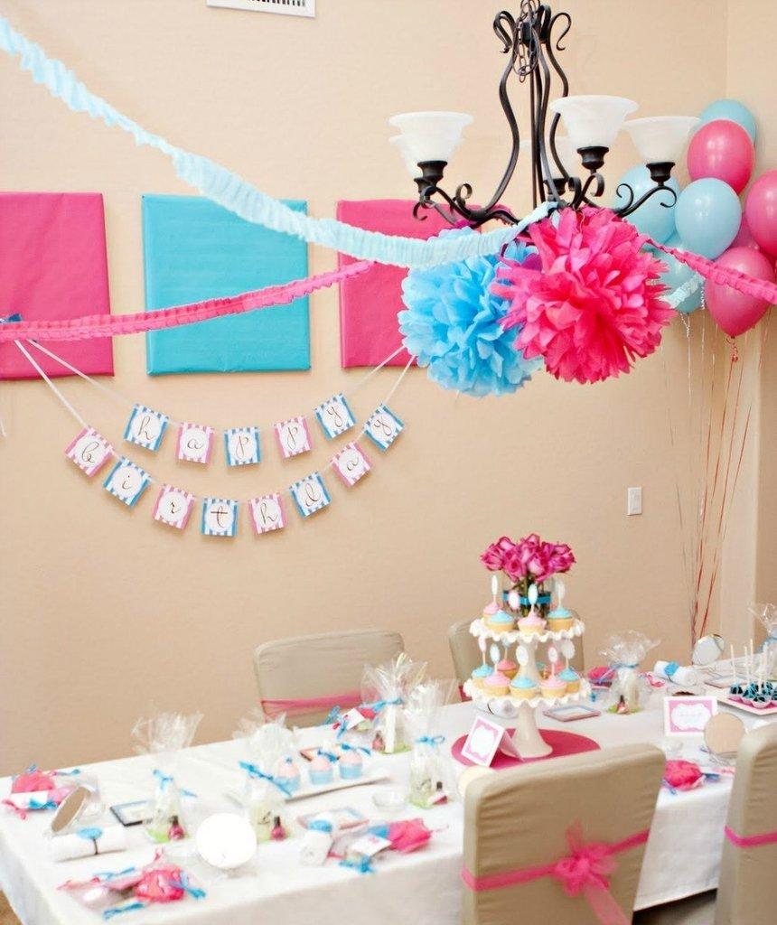 Pompones en papel seda azul claro paquete x 3 unidades en - Como hacer pompones para decorar fiestas ...