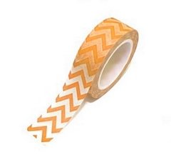 Washi Tape Chevron Grande (Zigzag) Anaranjado