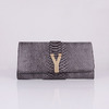 Imagem do Clutch Chyc Textured Snake Veins Saint Laurent