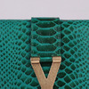 Clutch Chyc Textured Snake Veins Saint Laurent