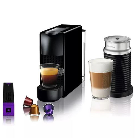 Nespresso® Essenza Mini Black+Aero (A3C30-AR-BK-NE)