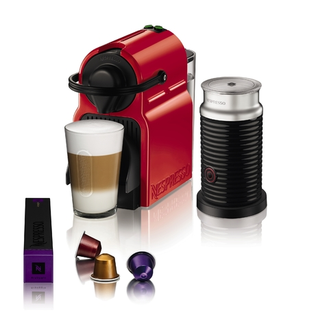 Nespresso® Inissia Red + Aero3 (A3C40-AR-RE-NE)