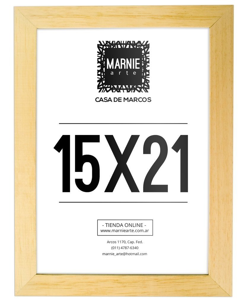 Marco de Madera Marupá 15x21cm
