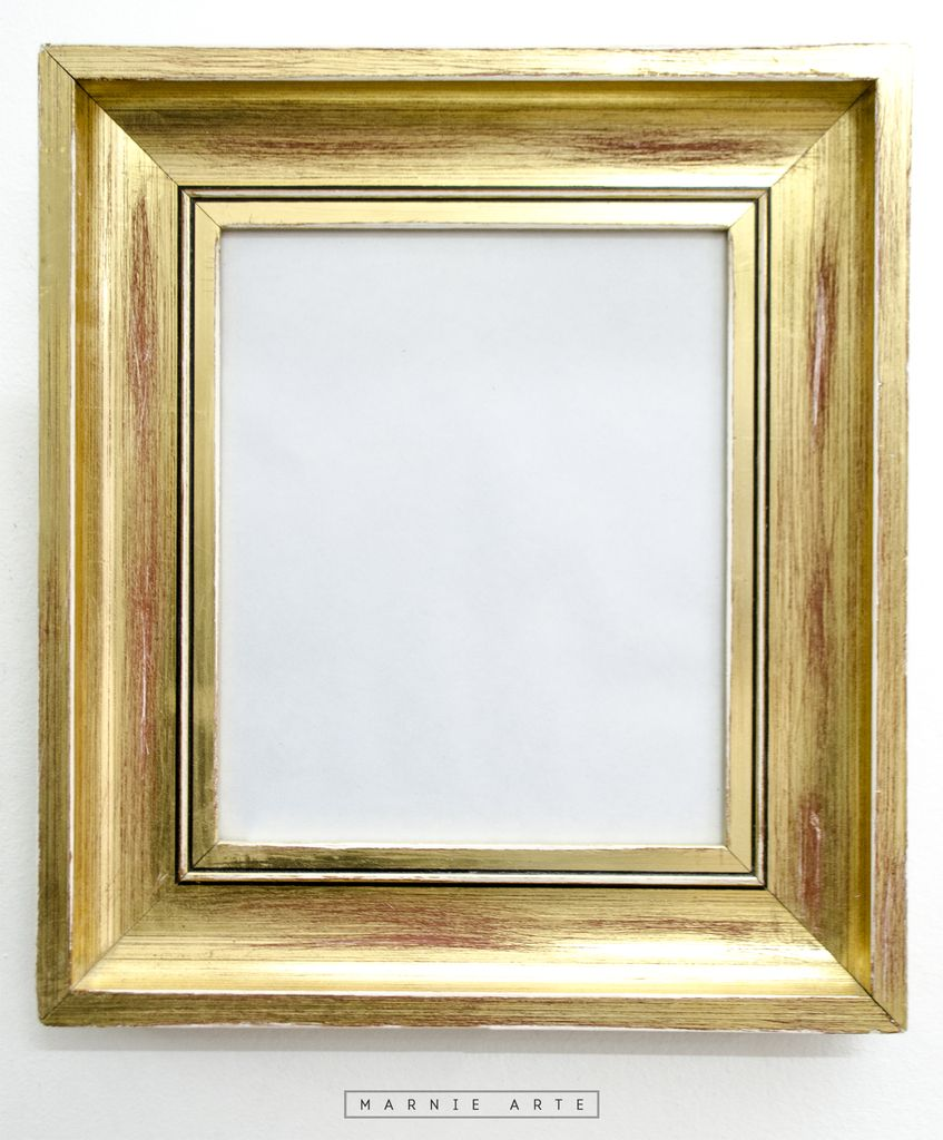 Marco dorado gastado - Marco para cuadro ...