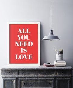 Cuadro All You Need Is Love - Rojo