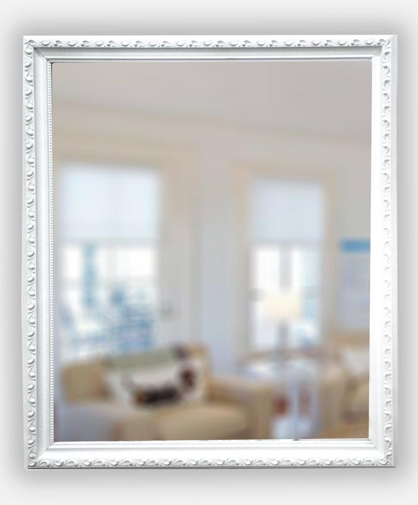 Espejo con Marco Blanco Labrado (54x74 cm.)