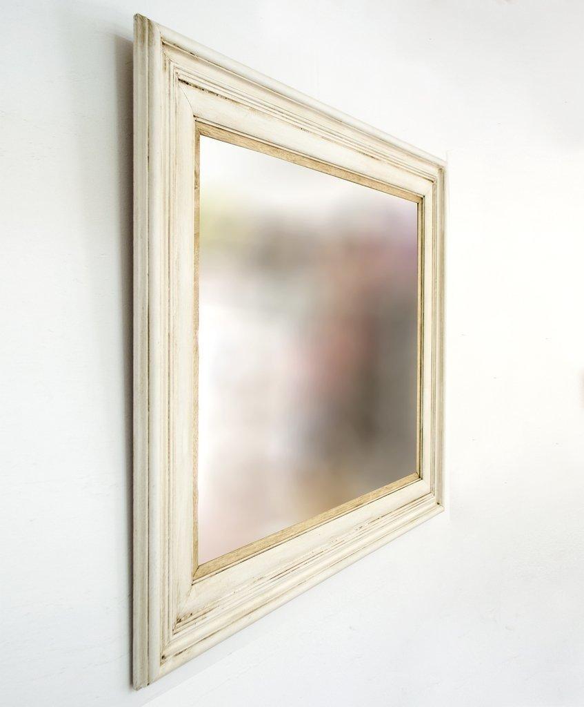 Espejo con Marco Blanco Antiguo