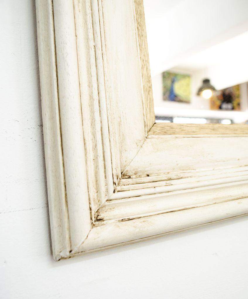 espejo marco blanco antiguo