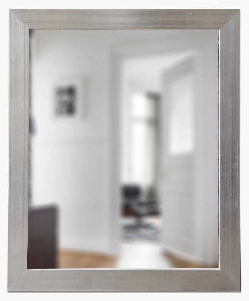 Espejo con marco chato plateado marnie arte for Espejos con marco plateado