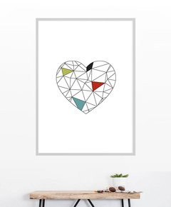 Cuadro Geometric Heart Colors